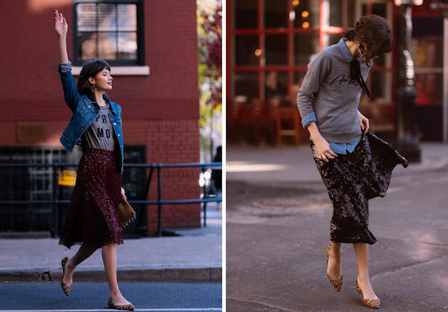 Двушки в юбках и леопардовых туфлях