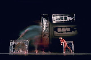 Walkaround Time (1968) Choreography: Merce Cunningham and stage set and costumes: Jasper Johns (c) 1972 by James Klosty