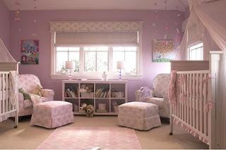 Decoración cuarto bebé rosa