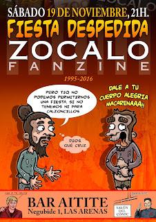 Cartel de la fiesta de despedida de Zocalo