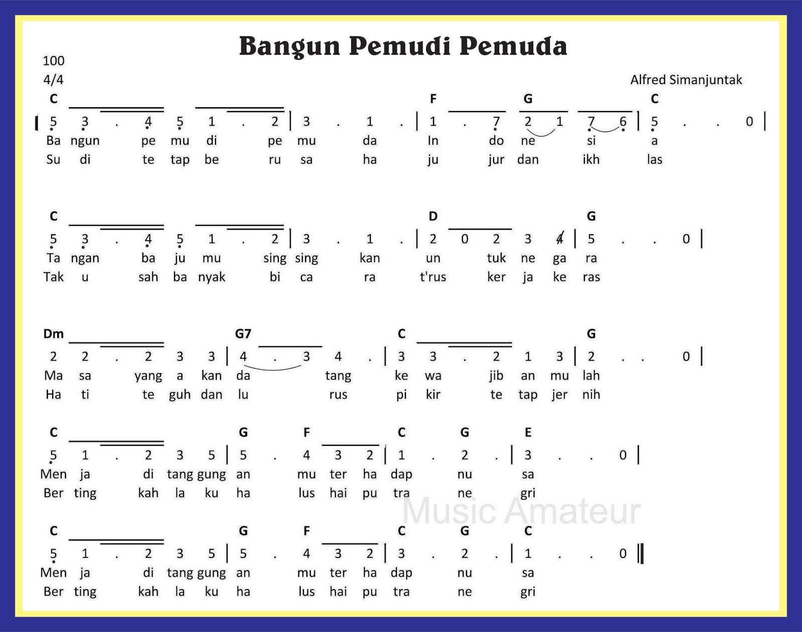 Lagu Nasional Bangun Pemuda Pemudi Guru