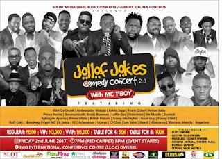 Klint D Drunk, 20 others storm Owerri for MC Tboy's Jollof Jokes Concert   @mc_tboy 1