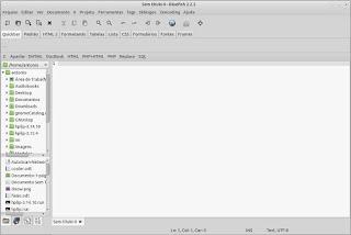 BlueFish seu editor de linguagens