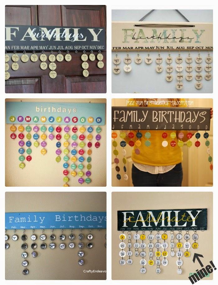 clever nest family birthday calendar silhouette file