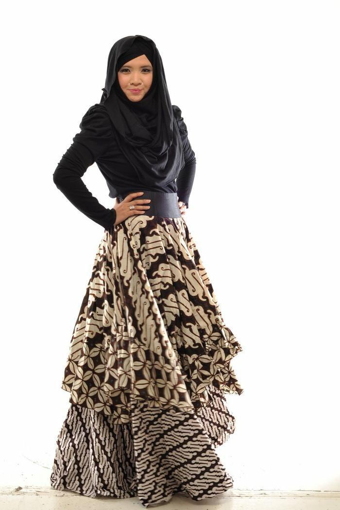 30+ Model Baju Batik Muslim Terbaru 2017