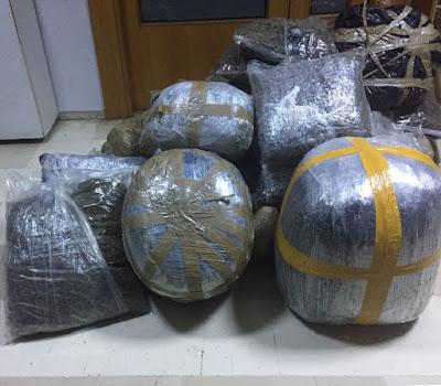 Συνελήφθησαν δύο Αλβανοί με 190 κιλά κάνναβης