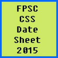 Federal Public Service Commission FPSC Date Sheet 2017