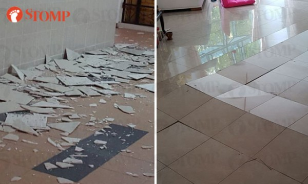 HDB flats across Singapore have experienced cracking floor tiles over the last few days, with cases reported at Toa Payoh, Fernvale, and Woodlands.