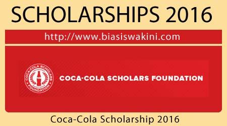 Coca-Cola Scholarship 2016