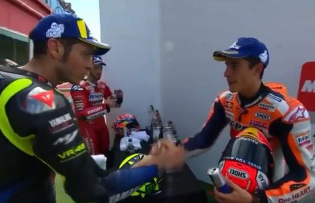Rossi dan Marquez Salaman Argentina 2019
