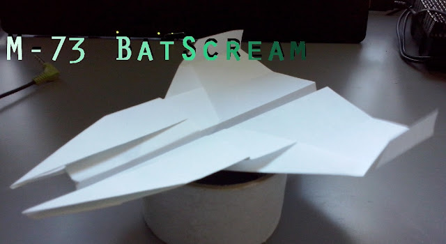 Avión de papel M-73 BatScream