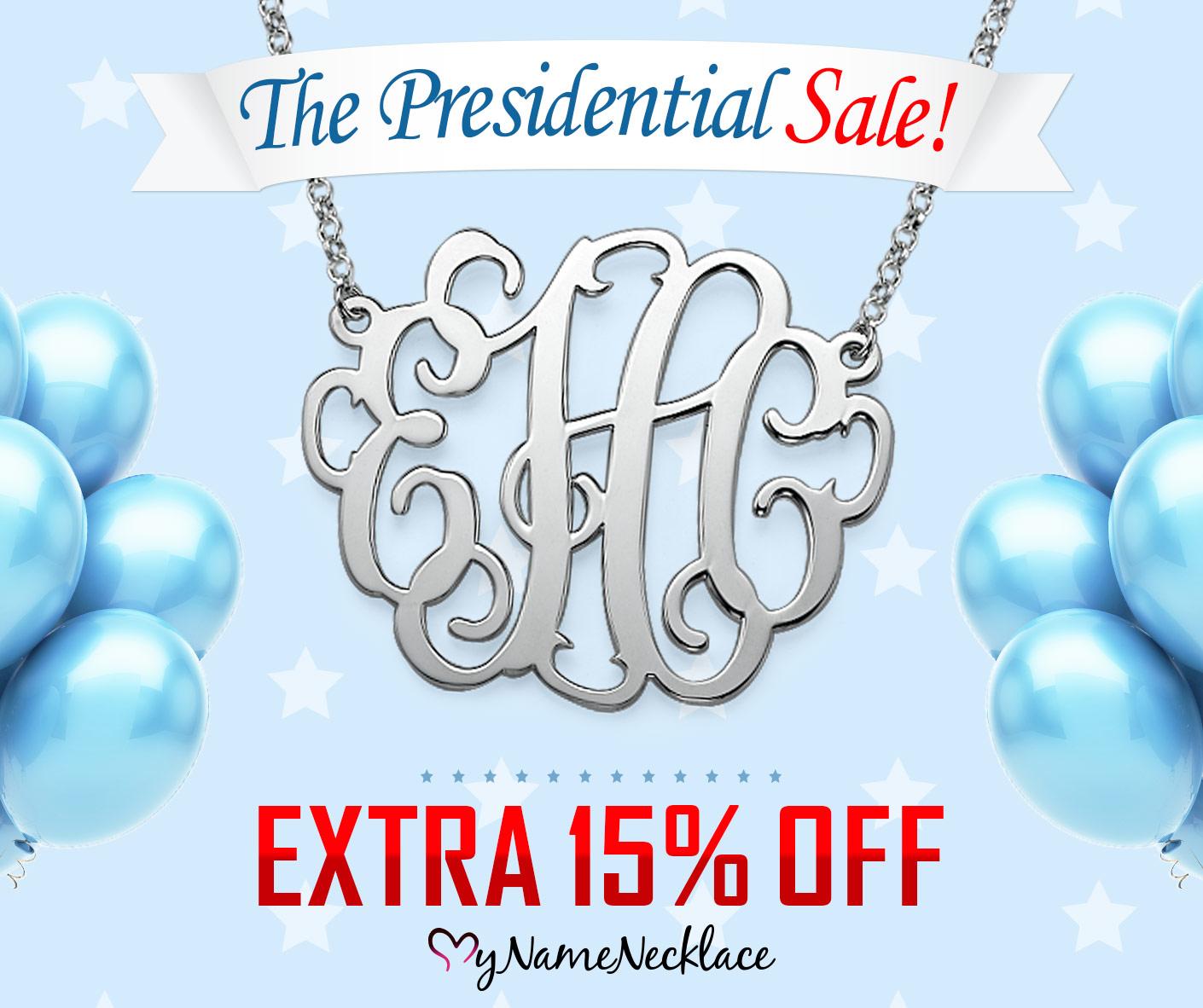 MyNameNecklace Presidential Sale