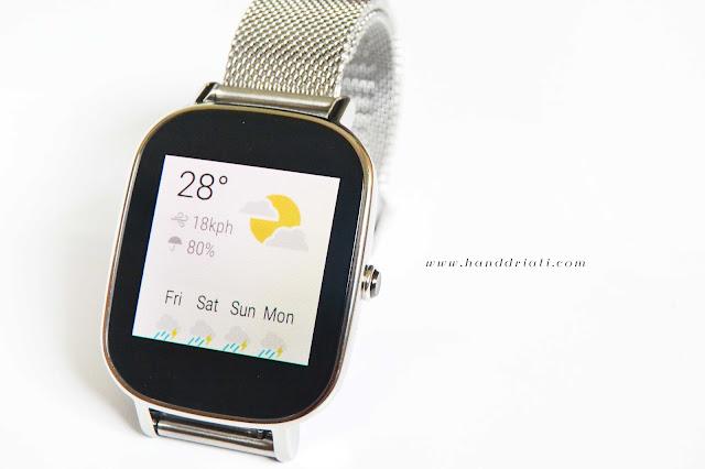 fitur weather pada zenwatch 2