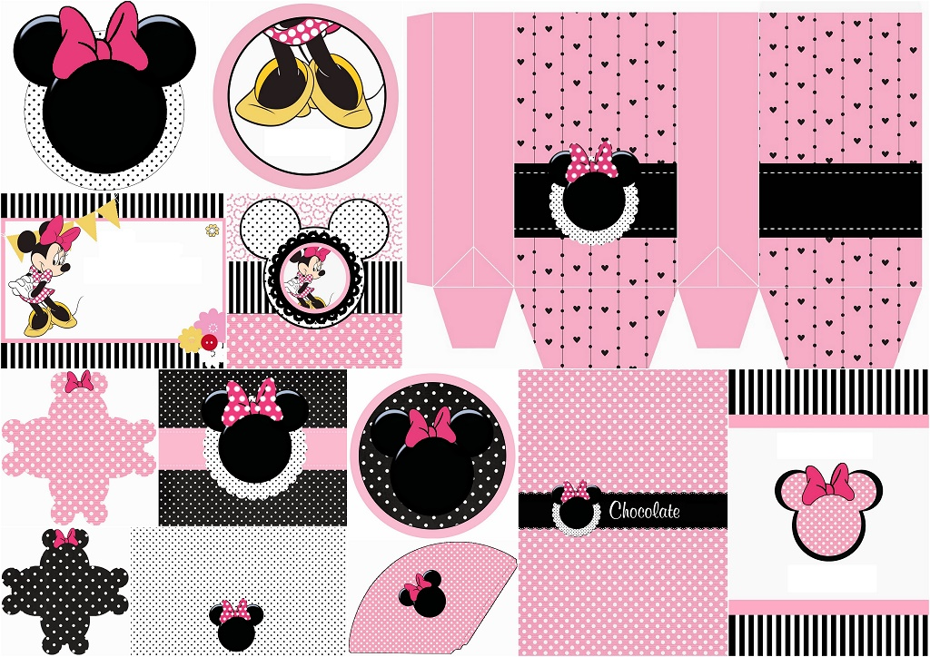 funny pink minnie mouse free printable kit oh my fiesta in english. Black Bedroom Furniture Sets. Home Design Ideas