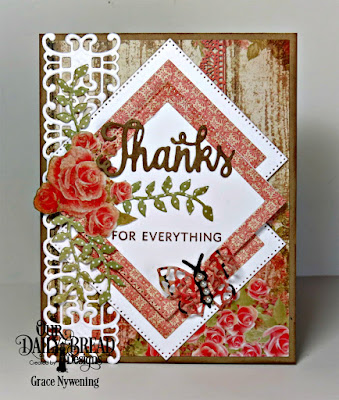 Our Daily Bread Designs Stamp/Die Duo:Thanks for Everything, Our Daily Bread Designs Custom Dies: Pierced Squares, Trellis Strip, Lovely Leaves, Bitty Butterflies, Our Daily Bread Designs Paper Collection:, Blushing Rose