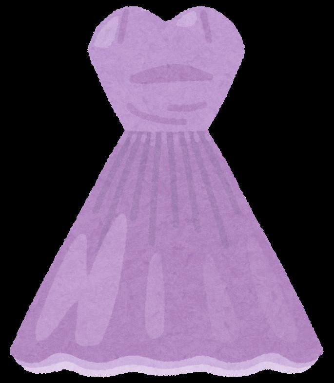カラードレスのイラスト(紫)