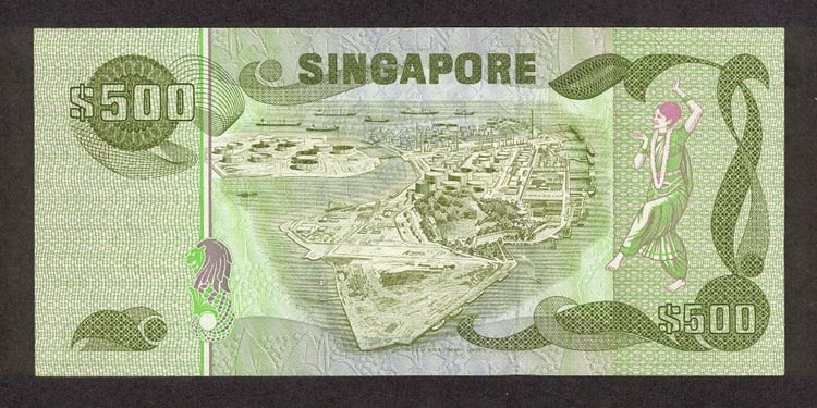 Singapore 500 Dollar note Bird Series