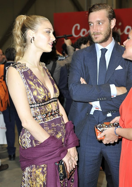 Princess Beatrice of York, Beatrice Borromeo and Pierre Casiraghi attends Convivio 2016 photocall in Milan, Gianni Versace, Gianfranco Ferre, Giorgio Armani and Valentino, fashion dress, new collection