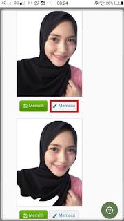 cara ganti background foto secara online via android
