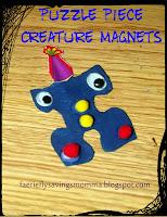 Puzzle Piece Creature Magnets