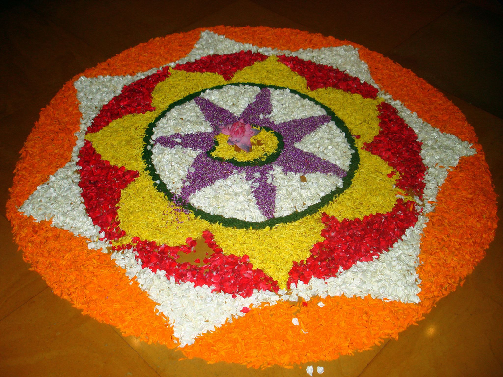 5 Beautiful Onam Pookalam Photos