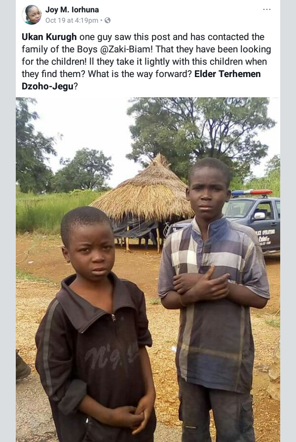 Photos: Police intercept tanker truck carrying two children in Benue state