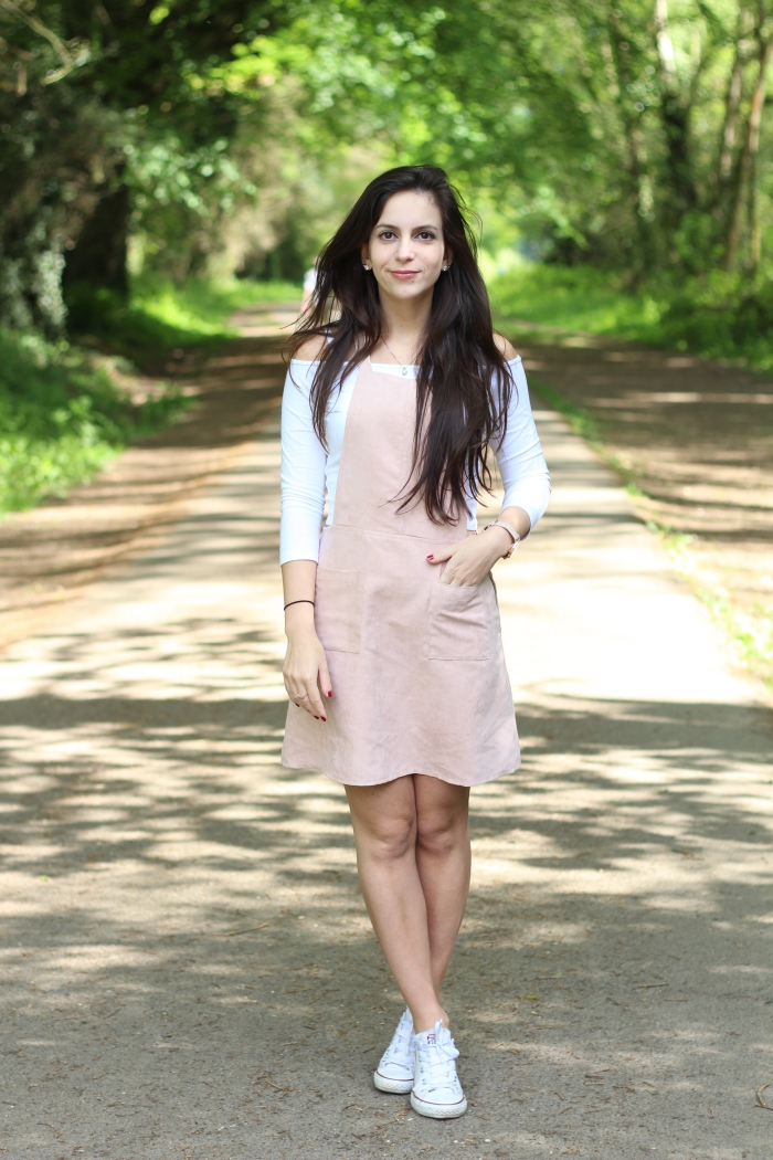 Pink Pinafore Dungarees Faux Suede Primark