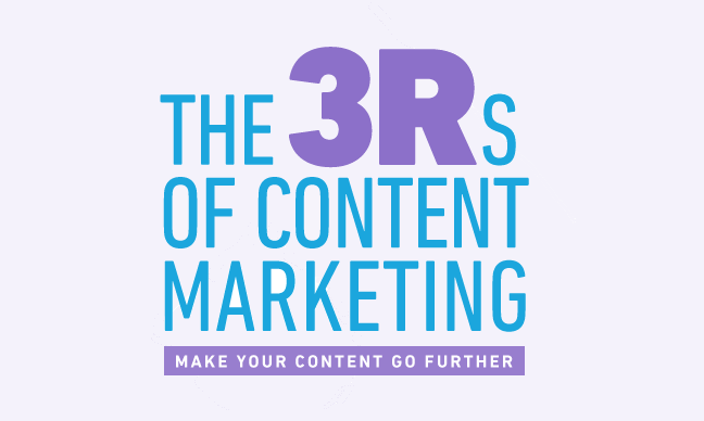 Make Your Content Go Further With 3 Rs Of #ContentMarketing - #infographic