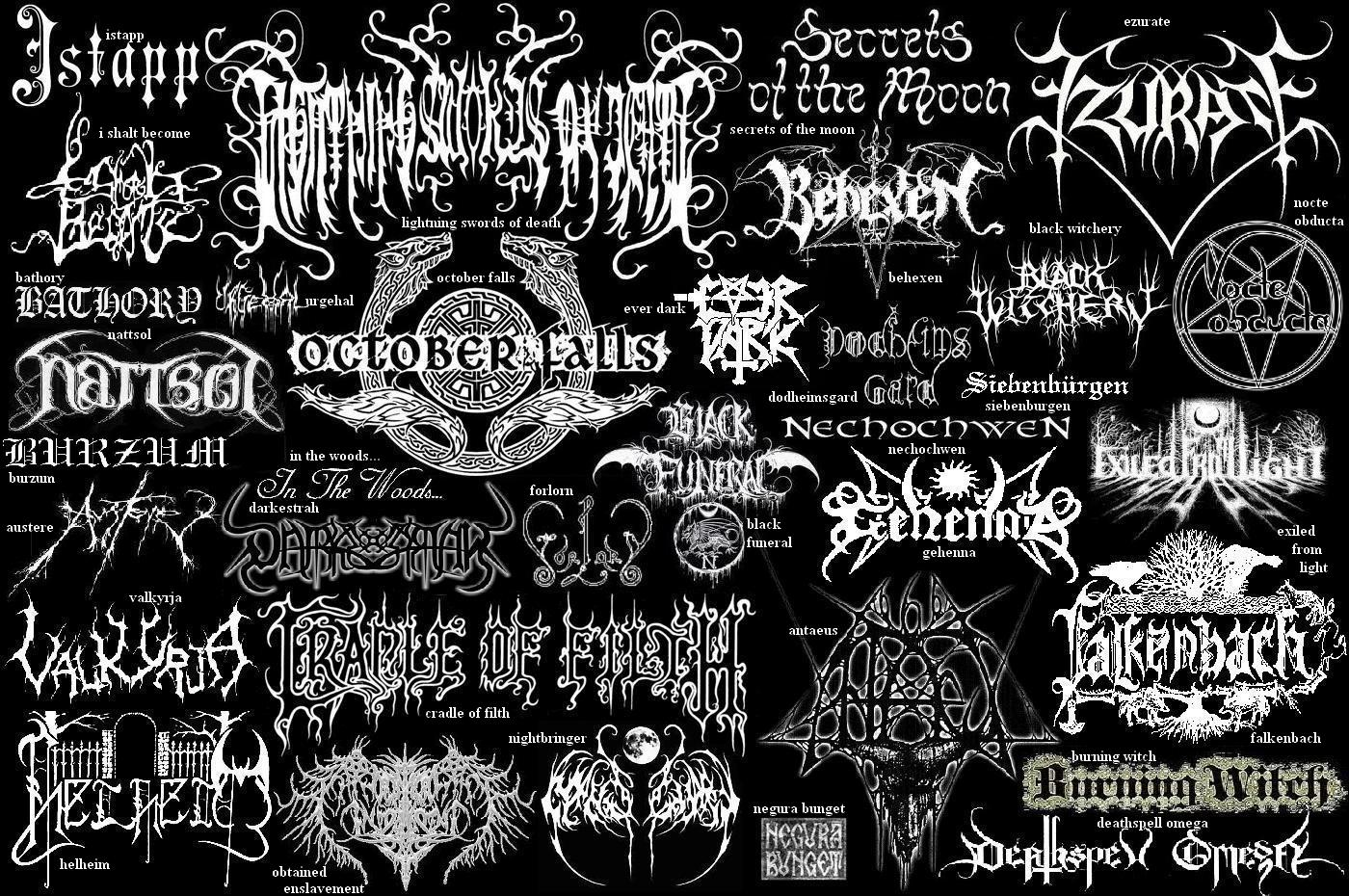illegible black metal logo - photo #38