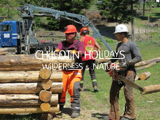 Learning to build two log cabins in one week with Chilcotin Holidays