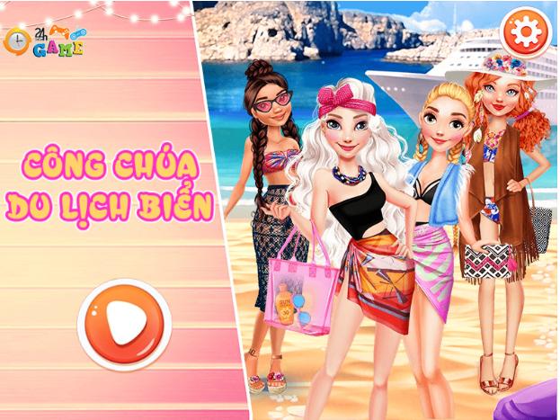 Chơi game Công chúa du lịch biển