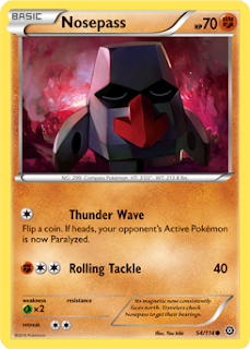 Nosepass Steam Siege Pokemon Card