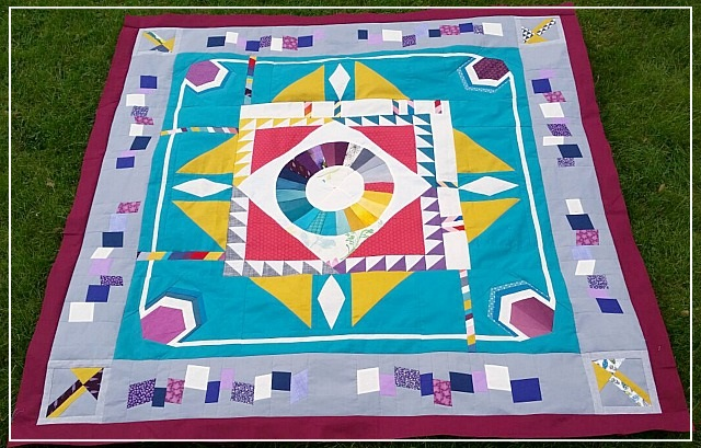 Puppilalla, Round Robin Quilt, Rakish Needle Robin, Foundation Paper Piecing, FPP, Modern Patchwork