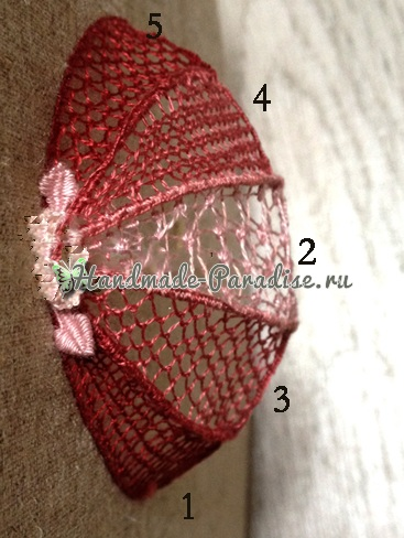 Объемная вышивка «Зонтик» (1)