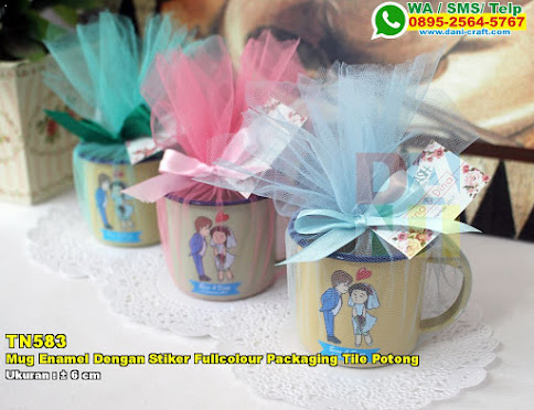 Mug Enamel Dengan Sticker Fullcolour Packaging Tile Potong