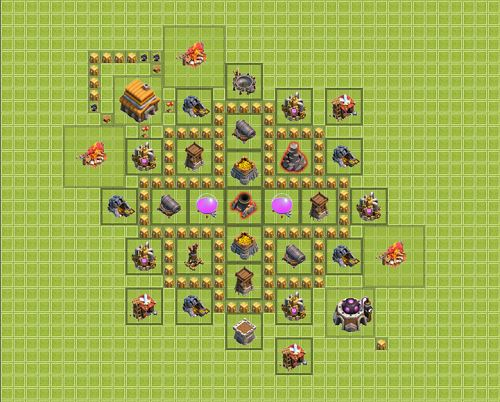 coc, clash of clans, android, th 5, foto, images, gambar,