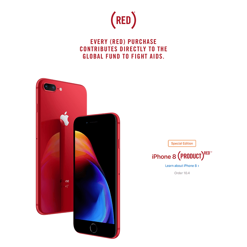 Apple launches iPhone 8 and iPhone 8 Plus (PRODUCT)RED edition