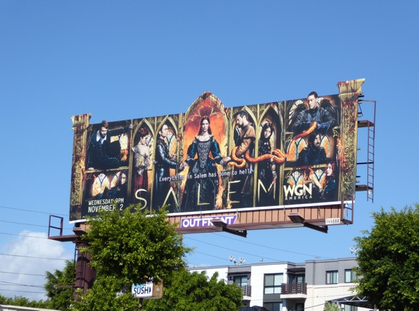 Salem season 3 special cutout billboard