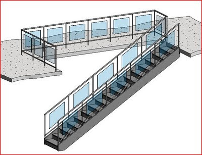 REVIT Rocks !: REVIT Railing with Glass Panels