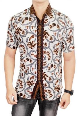 Gambar baju batik pria slim fit