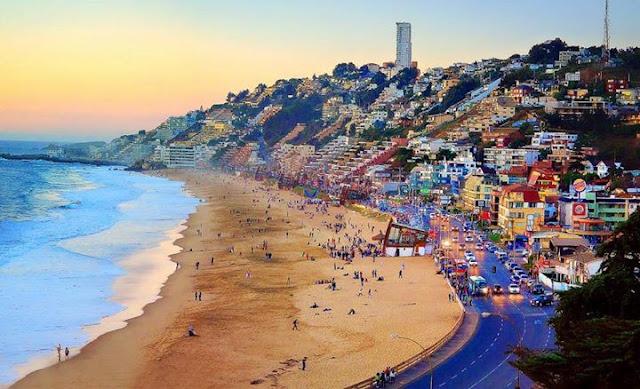 Praia Reñaca no Chile