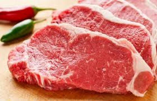 Daging dengan tekstur lemak tipis