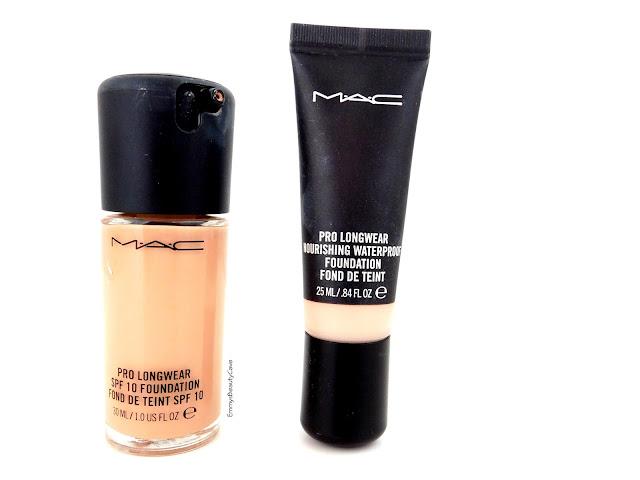 MAC Pro Longwear Foundation vs MAC Waterproof Pro Longwear Foundation
