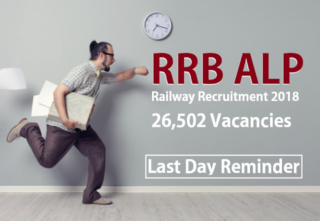 Railway ALP Recruitment 2018: 26,502 Vacancies : Last Date Reminder