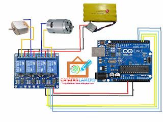Kontrol Dinamo/Motor DC Menggunakan Relay dan Arduino Bagian 2