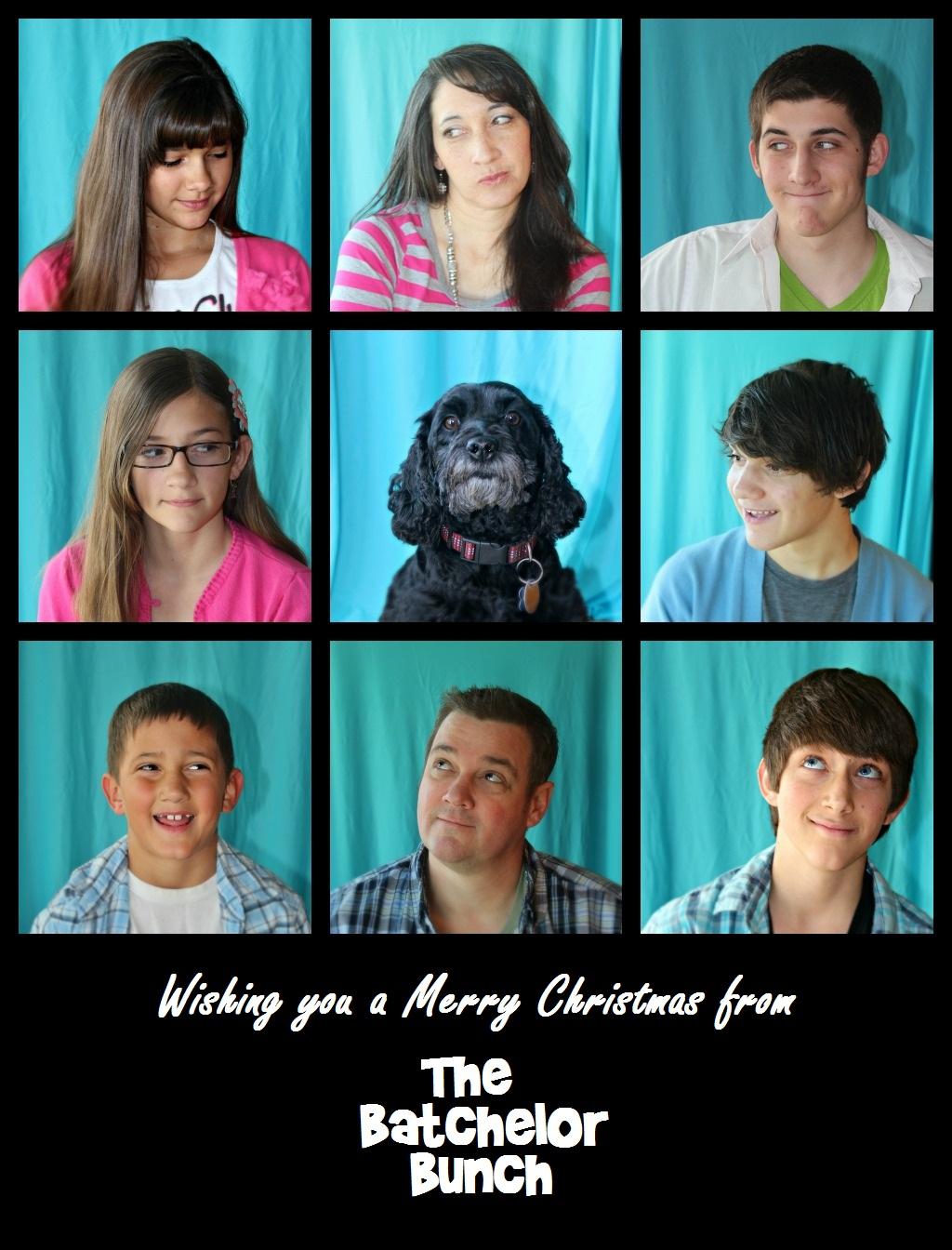 Brady Bunch Christmas Card.Batchelors Way Merry Christmas