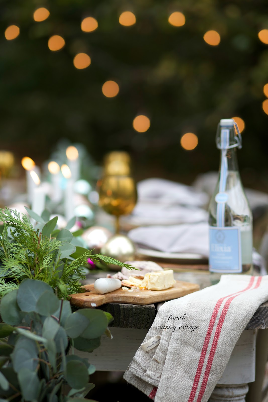 French Style Christmas Table Out Under The Stars French