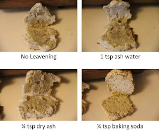 Ash and ash water biscuits, THL recipe, side view