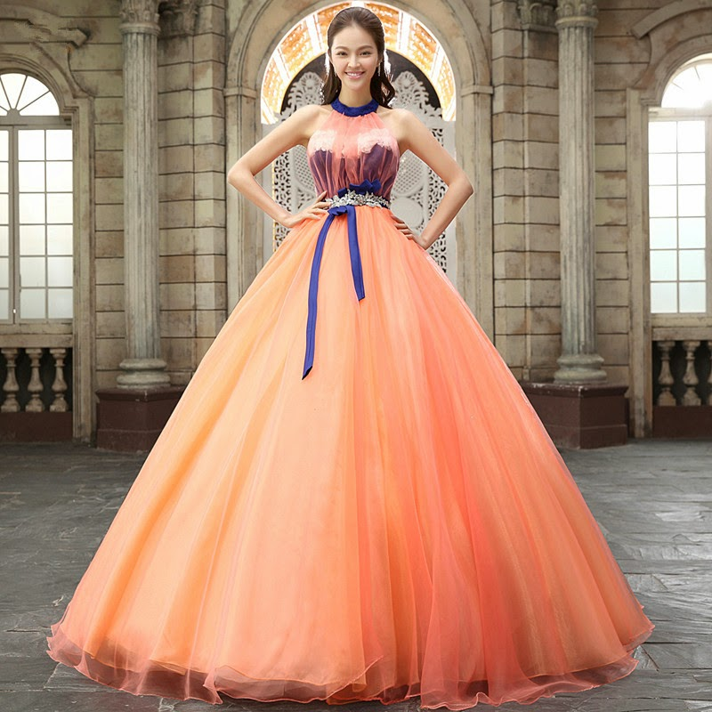 Blue Wedding Gowns 2014: It's Orange Blue Wedding Gown! :: My Gown Dress