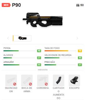 Armas Do Free Fire P90 Dicas E Curiosidades Dangerzone Free Fire